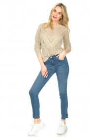 Liu Jo |  Openwork sweater Fay | gold  | Picture 3