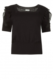 Liu Jo |  Top with ruffles Pippa | black  | Picture 1