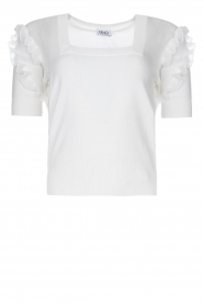 Liu Jo |  Top with ruffles Pippa | white  | Picture 1