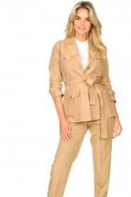 Liu Jo |  Safari suit blazer Kris | camel  | Picture 5