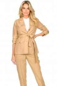Liu Jo |  Safari suit blazer Kris | camel  | Picture 2