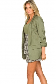 Liu Jo |  Blazer with a soft shimmer Lola | green  | Picture 7