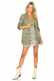 Liu Jo |  Blazer with a soft shimmer Lola | green  | Picture 3