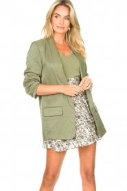 Liu Jo |  Blazer with a soft shimmer Lola | green  | Picture 5