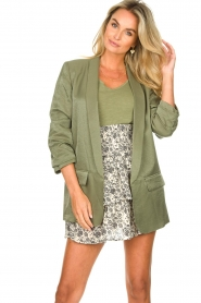 Liu Jo |  Blazer with a soft shimmer Lola | green  | Picture 6