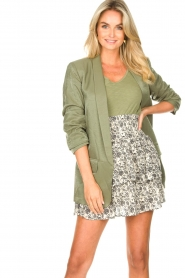 Liu Jo |  Blazer with a soft shimmer Lola | green  | Picture 2