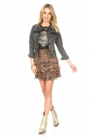 Liu Jo |  Skirt with leopard print Emily | animal print  | Picture 3