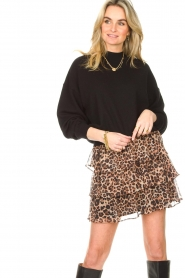 Liu Jo |  Skirt with leopard print Emily | animal print  | Picture 6