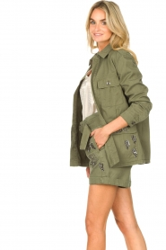 Liu Jo |  Coat with rhinesstones Abbey | green  | Picture 6