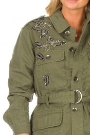Liu Jo |  Coat with rhinesstones Abbey | green  | Picture 8