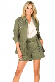 Liu Jo |  Coat with rhinesstones Abbey | green  | Picture 2