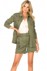 Liu Jo |  Coat with rhinesstones Abbey | green  | Picture 4