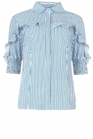 Liu Jo |  Blouse with ruffles Eda | blue  | Picture 1