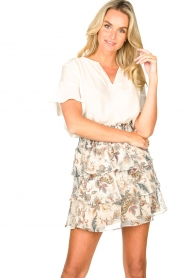 Liu Jo |  Paisley printed skirt Emily | natural   | Picture 4