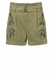 Liu Jo |  Short with rhinesstones Vai | green  | Picture 1