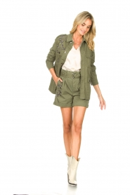 Liu Jo |  Short with rhinesstones Vai | green  | Picture 3