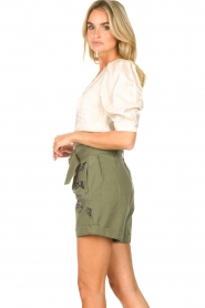 Liu Jo |  Short with rhinesstones Vai | green  | Picture 6