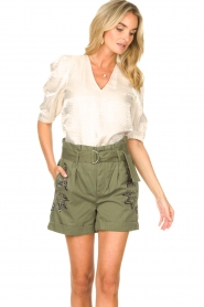 Liu Jo |  Short with rhinesstones Vai | green  | Picture 4