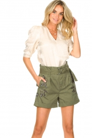 Liu Jo |  Short with rhinesstones Vai | green  | Picture 5
