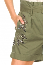 Liu Jo |  Short with rhinesstones Vai | green  | Picture 8