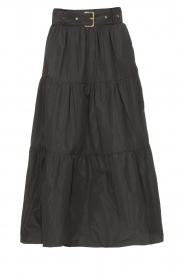 Liu Jo |  Taffeta maxi skirt Tess | black  | Picture 1