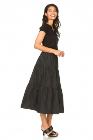 Liu Jo |  Taffeta maxi skirt Tess | black  | Picture 5