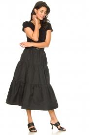 Liu Jo |  Taffeta maxi skirt Tess | black  | Picture 2