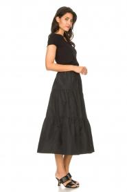 Liu Jo |  Taffeta maxi skirt Tess | black  | Picture 4