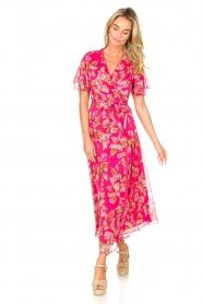 Liu Jo |  Floral maxi dress Cindy | pink  | Picture 3