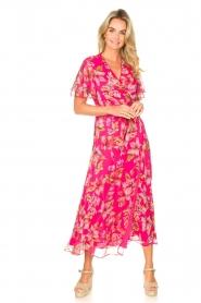 Liu Jo |  Floral maxi dress Cindy | pink  | Picture 4