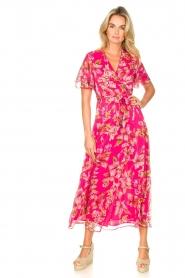 Liu Jo |  Floral maxi dress Cindy | pink  | Picture 2
