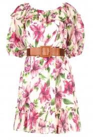 Liu Jo |  Off shoulder floral dress Nora | pink  | Picture 1
