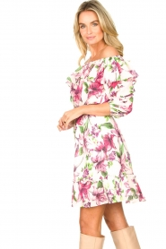 Liu Jo |  Off shoulder floral dress Nora | pink  | Picture 6