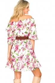 Liu Jo |  Off shoulder floral dress Nora | pink  | Picture 8