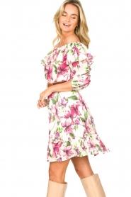 Liu Jo |  Off shoulder floral dress Nora | pink  | Picture 7