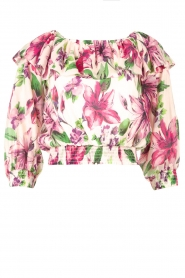 Liu Jo |  Cotton top with boat neck Nova | pink   | Picture 1