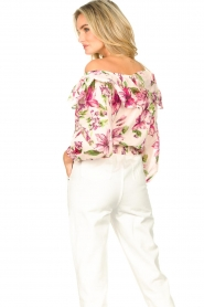 Liu Jo |  Cotton top with boat neck Nova | pink   | Picture 7