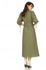 Liu Jo |  Poplin maxi dress Mari | green  | Picture 7