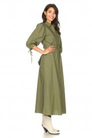 Liu Jo |  Poplin maxi dress Mari | green  | Picture 6
