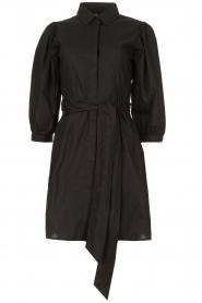 Liu Jo |  Dress with tie belt Emma | black  | Picture 1