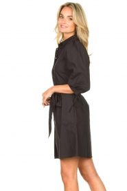 Liu Jo |  Dress with tie belt Emma | black  | Picture 5