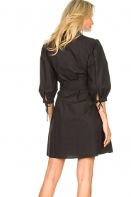 Liu Jo |  Dress with tie belt Emma | black  | Picture 7