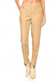 Liu Jo |  Safari trousers Pam | beige  | Picture 4