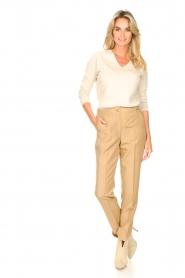 Liu Jo |  Safari trousers Pam | beige  | Picture 3
