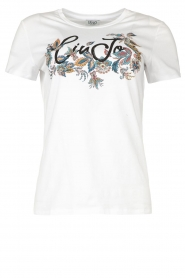 Liu Jo |  Cotton logo T-shirt June | white  | Picture 1