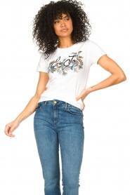 Liu Jo |  Cotton logo T-shirt June | white  | Picture 4