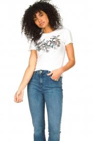 Liu Jo |  Cotton logo T-shirt June | white  | Picture 2