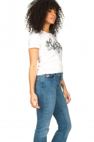 Liu Jo |  Cotton logo T-shirt June | white  | Picture 5