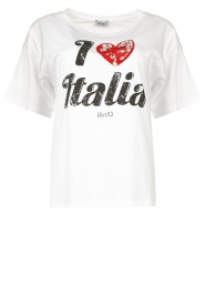 Liu Jo |  Cotton oversized T-shirt Lucy | white  | Picture 1