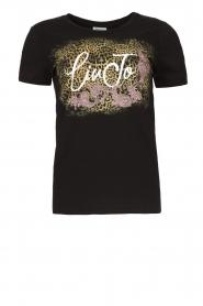 Liu Jo |  Cotton logo T-shirt June | black  | Picture 1